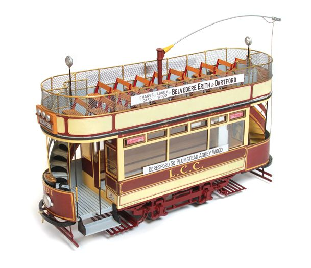tramway de london londres  u00e9chelle g i iim train de jardin lgb pas cher hornby jouef roco ls